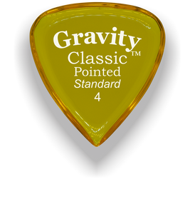 Classic Pointed Standard 4.0mm Yellow Acrylic Guitar Pick Handmade Custom Best Acoustic Mandolin Electric Ukulele Bass Plectrum Bright Loud Faster Speed