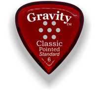 Load image into Gallery viewer, Classic Pointed Standard 6.0mm Red Multi-Hole Grip Acrylic Guitar Pick Handmade Custom Best Acoustic Mandolin Electric Ukulele Bass Plectrum Bright Loud Faster Speed