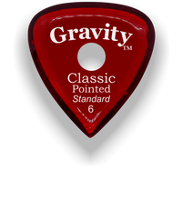 Load image into Gallery viewer, Classic Pointed Standard 6.0mm Red Single Round Grip Acrylic Guitar Pick Handmade Custom Best Acoustic Mandolin Electric Ukulele Bass Plectrum Bright Loud Faster Speed