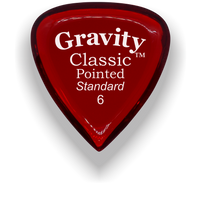 Load image into Gallery viewer, Classic Pointed Standard 6.0mm Red Acrylic Guitar Pick Handmade Custom Best Acoustic Mandolin Electric Ukulele Bass Plectrum Bright Loud Faster Speed