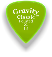Load image into Gallery viewer, Classic Pointed XL 1.5mm Fluorescent Green Acrylic Guitar Pick Handmade Custom Best Acoustic Mandolin Electric Ukulele Bass Plectrum Bright Loud Faster Speed