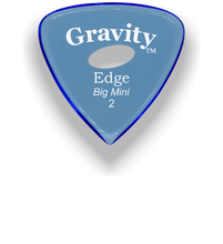 Load image into Gallery viewer, Edge Big Mini 2.0mm Blue Elipse Grip Acrylic Guitar Pick Handmade Custom Best Acoustic Mandolin Electric Ukulele Bass Plectrum Bright Loud Faster Speed