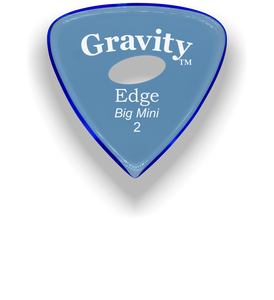 Edge Big Mini 2.0mm Blue Elipse Grip Acrylic Guitar Pick Handmade Custom Best Acoustic Mandolin Electric Ukulele Bass Plectrum Bright Loud Faster Speed