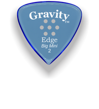 Load image into Gallery viewer, Edge Big Mini 2.0mm Blue Multi-Hole Grip Acrylic Guitar Pick Handmade Custom Best Acoustic Mandolin Electric Ukulele Bass Plectrum Bright Loud Faster Speed