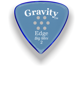 Edge Big Mini 2.0mm Blue Multi-Hole Grip Acrylic Guitar Pick Handmade Custom Best Acoustic Mandolin Electric Ukulele Bass Plectrum Bright Loud Faster Speed