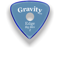 Load image into Gallery viewer, Edge Big Mini 2.0mm Blue Single Round Grip Acrylic Guitar Pick Handmade Custom Best Acoustic Mandolin Electric Ukulele Bass Plectrum Bright Loud Faster Speed