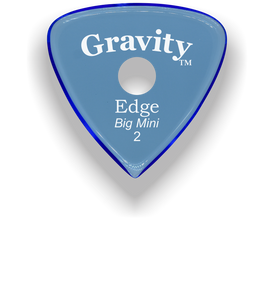 Edge Big Mini 2.0mm Blue Single Round Grip Acrylic Guitar Pick Handmade Custom Best Acoustic Mandolin Electric Ukulele Bass Plectrum Bright Loud Faster Speed
