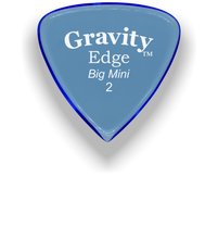 Load image into Gallery viewer, Edge Big Mini 2.0mm Blue Acrylic Guitar Pick Handmade Custom Best Acoustic Mandolin Electric Ukulele Bass Plectrum Bright Loud Faster Speed