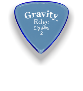 Edge Big Mini 2.0mm Blue Acrylic Guitar Pick Handmade Custom Best Acoustic Mandolin Electric Ukulele Bass Plectrum Bright Loud Faster Speed