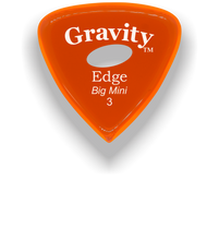 Load image into Gallery viewer, Edge Big Mini 3.0mm Orange Elipse Grip Acrylic Guitar Pick Handmade Custom Best Acoustic Mandolin Electric Ukulele Bass Plectrum Bright Loud Faster Speed