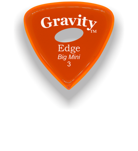 Edge Big Mini 3.0mm Orange Elipse Grip Acrylic Guitar Pick Handmade Custom Best Acoustic Mandolin Electric Ukulele Bass Plectrum Bright Loud Faster Speed