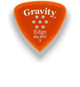 Edge Big Mini 3.0mm Orange Multi-Hole Grip Acrylic Guitar Pick Handmade Custom Best Acoustic Mandolin Electric Ukulele Bass Plectrum Bright Loud Faster Speed