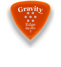 Load image into Gallery viewer, Edge Big Mini 3.0mm Orange Multi-Hole Grip Acrylic Guitar Pick Handmade Custom Best Acoustic Mandolin Electric Ukulele Bass Plectrum Bright Loud Faster Speed