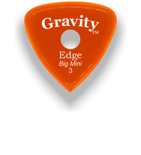 Load image into Gallery viewer, Edge Big Mini 3.0mm Orange Single Round Grip Acrylic Guitar Pick Handmade Custom Best Acoustic Mandolin Electric Ukulele Bass Plectrum Bright Loud Faster Speed