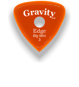 Edge Big Mini 3.0mm Orange Single Round Grip Acrylic Guitar Pick Handmade Custom Best Acoustic Mandolin Electric Ukulele Bass Plectrum Bright Loud Faster Speed