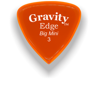Load image into Gallery viewer, Edge Big Mini 3.0mm Orange Acrylic Guitar Pick Handmade Custom Best Acoustic Mandolin Electric Ukulele Bass Plectrum Bright Loud Faster Speed