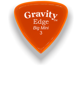 Edge Big Mini 3.0mm Orange Acrylic Guitar Pick Handmade Custom Best Acoustic Mandolin Electric Ukulele Bass Plectrum Bright Loud Faster Speed
