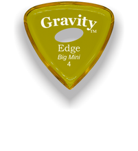 Load image into Gallery viewer, Edge Big Mini 4.0mm Yellow Elipse Grip Acrylic Guitar Pick Handmade Custom Best Acoustic Mandolin Electric Ukulele Bass Plectrum Bright Loud Faster Speed