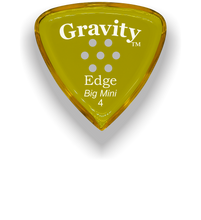 Load image into Gallery viewer, Edge Big Mini 4.0mm Yellow Multi-Hole Grip Acrylic Guitar Pick Handmade Custom Best Acoustic Mandolin Electric Ukulele Bass Plectrum Bright Loud Faster Speed