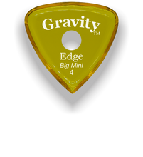 Load image into Gallery viewer, Edge Big Mini 4.0mm Yellow Single Round Grip Acrylic Guitar Pick Handmade Custom Best Acoustic Mandolin Electric Ukulele Bass Plectrum Bright Loud Faster Speed