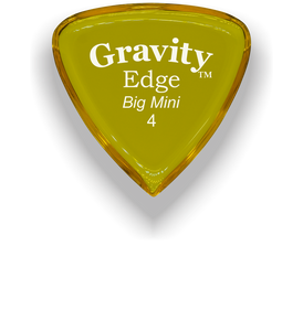 Edge Big Mini 4.0mm Yellow Acrylic Guitar Pick Handmade Custom Best Acoustic Mandolin Electric Ukulele Bass Plectrum Bright Loud Faster Speed