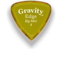 Load image into Gallery viewer, Edge Big Mini 4.0mm Yellow Acrylic Guitar Pick Handmade Custom Best Acoustic Mandolin Electric Ukulele Bass Plectrum Bright Loud Faster Speed