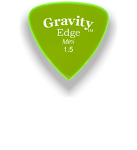 Load image into Gallery viewer, Edge Mini Jazz 1.5mm Fluorescent Green Acrylic Guitar Pick Handmade Custom Best Acoustic Mandolin Electric Ukulele Bass Plectrum Bright Loud Faster Speed