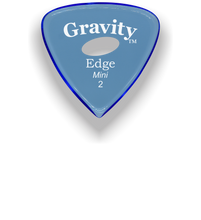 Load image into Gallery viewer, Edge Mini Jazz 2.0mm Blue Elipse Grip Acrylic Guitar Pick Handmade Custom Best Acoustic Mandolin Electric Ukulele Bass Plectrum Bright Loud Faster Speed