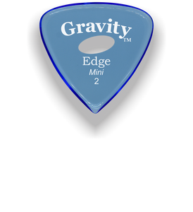 Edge Mini Jazz 2.0mm Blue Elipse Grip Acrylic Guitar Pick Handmade Custom Best Acoustic Mandolin Electric Ukulele Bass Plectrum Bright Loud Faster Speed