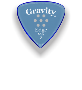 Edge Mini Jazz 2.0mm Blue Multi-Hole Grip Acrylic Guitar Pick Handmade Custom Best Acoustic Mandolin Electric Ukulele Bass Plectrum Bright Loud Faster Speed