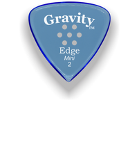 Load image into Gallery viewer, Edge Mini Jazz 2.0mm Blue Multi-Hole Grip Acrylic Guitar Pick Handmade Custom Best Acoustic Mandolin Electric Ukulele Bass Plectrum Bright Loud Faster Speed