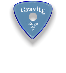 Edge Mini Jazz 2.0mm Blue Single Round Grip Acrylic Guitar Pick Handmade Custom Best Acoustic Mandolin Electric Ukulele Bass Plectrum Bright Loud Faster Speed
