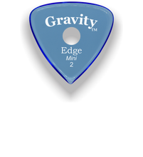 Load image into Gallery viewer, Edge Mini Jazz 2.0mm Blue Single Round Grip Acrylic Guitar Pick Handmade Custom Best Acoustic Mandolin Electric Ukulele Bass Plectrum Bright Loud Faster Speed