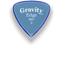 Load image into Gallery viewer, Edge Mini Jazz 2.0mm Blue Acrylic Guitar Pick Handmade Custom Best Acoustic Mandolin Electric Ukulele Bass Plectrum Bright Loud Faster Speed