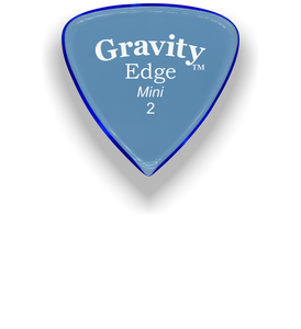 Edge Mini Jazz 2.0mm Blue Acrylic Guitar Pick Handmade Custom Best Acoustic Mandolin Electric Ukulele Bass Plectrum Bright Loud Faster Speed