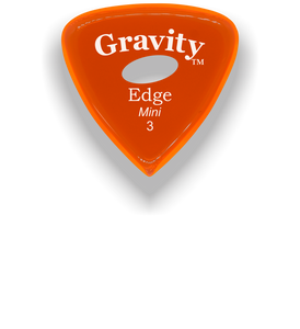 Edge Mini Jazz 3.0mm Orange Elipse Grip Acrylic Guitar Pick Handmade Custom Best Acoustic Mandolin Electric Ukulele Bass Plectrum Bright Loud Faster Speed