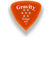 Load image into Gallery viewer, Edge Mini Jazz 3.0mm Orange Multi-Hole Grip Acrylic Guitar Pick Handmade Custom Best Acoustic Mandolin Electric Ukulele Bass Plectrum Bright Loud Faster Speed