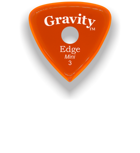 Edge Mini Jazz 3.0mm Orange Single Round Grip Acrylic Guitar Pick Handmade Custom Best Acoustic Mandolin Electric Ukulele Bass Plectrum Bright Loud Faster Speed
