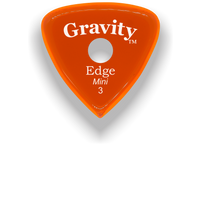 Load image into Gallery viewer, Edge Mini Jazz 3.0mm Orange Single Round Grip Acrylic Guitar Pick Handmade Custom Best Acoustic Mandolin Electric Ukulele Bass Plectrum Bright Loud Faster Speed