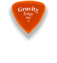 Load image into Gallery viewer, Edge Mini Jazz 3.0mm Orange Acrylic Guitar Pick Handmade Custom Best Acoustic Mandolin Electric Ukulele Bass Plectrum Bright Loud Faster Speed