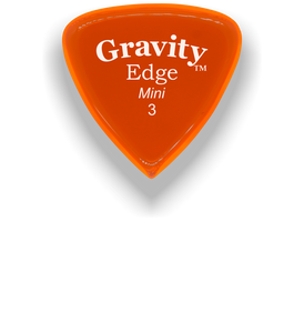 Edge Mini Jazz 3.0mm Orange Acrylic Guitar Pick Handmade Custom Best Acoustic Mandolin Electric Ukulele Bass Plectrum Bright Loud Faster Speed