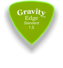 Load image into Gallery viewer, Edge Standard 1.5mm Fluorescent Green Acrylic Guitar Pick Handmade Custom Best Acoustic Mandolin Electric Ukulele Bass Plectrum Bright Loud Faster Speed