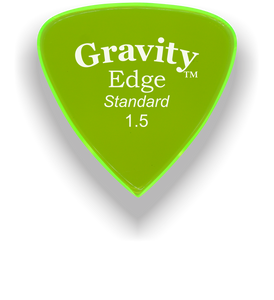 Edge Standard 1.5mm Fluorescent Green Acrylic Guitar Pick Handmade Custom Best Acoustic Mandolin Electric Ukulele Bass Plectrum Bright Loud Faster Speed