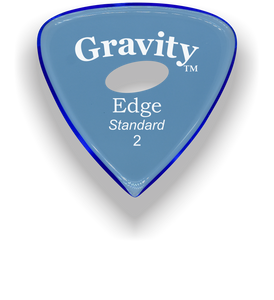 Edge Standard 2.0mm Blue Elipse Grip Acrylic Guitar Pick Handmade Custom Best Acoustic Mandolin Electric Ukulele Bass Plectrum Bright Loud Faster Speed