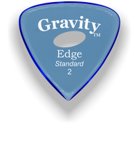 Load image into Gallery viewer, Edge Standard 2.0mm Blue Elipse Grip Acrylic Guitar Pick Handmade Custom Best Acoustic Mandolin Electric Ukulele Bass Plectrum Bright Loud Faster Speed