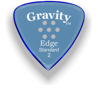 Load image into Gallery viewer, Edge Standard 2.0mm Blue Multi-Hole Grip Acrylic Guitar Pick Handmade Custom Best Acoustic Mandolin Electric Ukulele Bass Plectrum Bright Loud Faster Speed