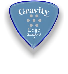 Edge Standard 2.0mm Blue Multi-Hole Grip Acrylic Guitar Pick Handmade Custom Best Acoustic Mandolin Electric Ukulele Bass Plectrum Bright Loud Faster Speed