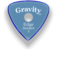 Load image into Gallery viewer, Edge Standard 2.0mm Blue Single Round Grip Acrylic Guitar Pick Handmade Custom Best Acoustic Mandolin Electric Ukulele Bass Plectrum Bright Loud Faster Speed