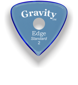 Edge Standard 2.0mm Blue Single Round Grip Acrylic Guitar Pick Handmade Custom Best Acoustic Mandolin Electric Ukulele Bass Plectrum Bright Loud Faster Speed