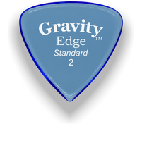 Load image into Gallery viewer, Edge Standard 2.0mm Blue Acrylic Guitar Pick Handmade Custom Best Acoustic Mandolin Electric Ukulele Bass Plectrum Bright Loud Faster Speed
